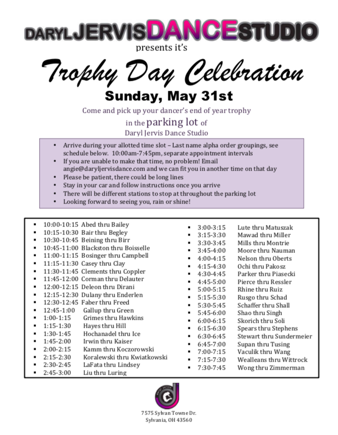 Trophy Day Celebration