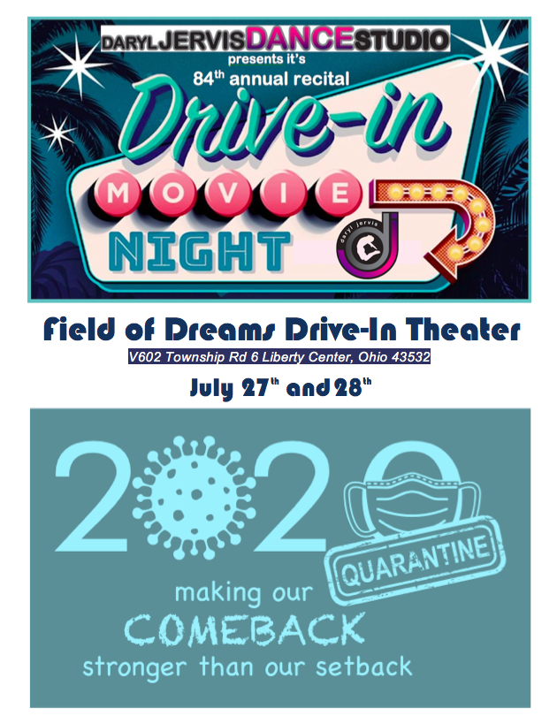 Recital at the Drive-In July 27th and 28th